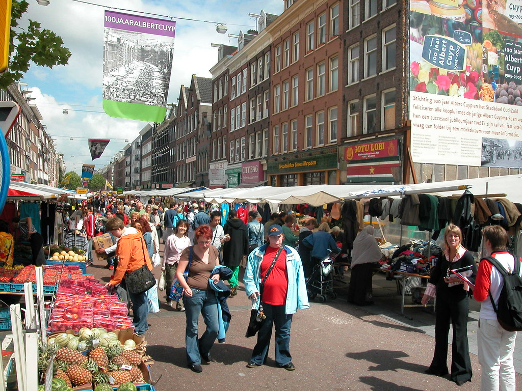 Albert Cuypmarkt, one of the best of Amsterdam's markets.