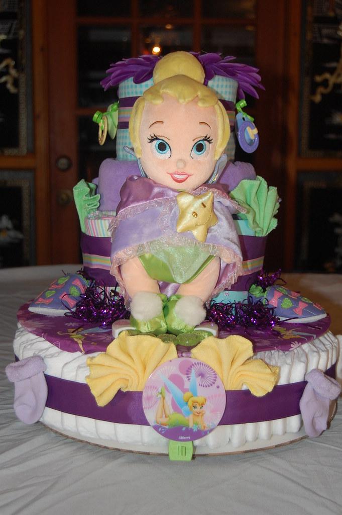 Tinkerbell Diaper Cake | By Swaddlestar Tinkerbell Diaper Cake | By  Swaddlestar