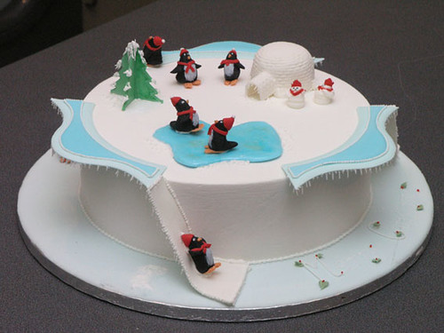 Penguin Christmas Cake This Cake Was Royal Iced With