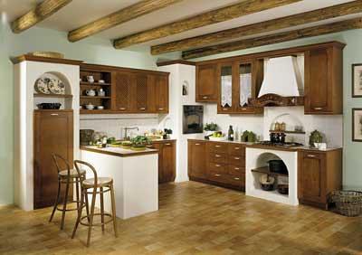 Cucina con forno ad angolo incassato nella muratura | Flickr