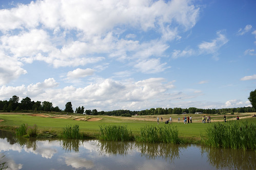 Hole 18 AXA Course water | by Vidbynäs Golf Club