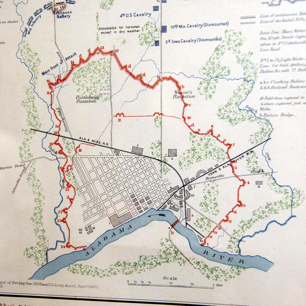 Selma Alabama Battlefield 2008, map of defenses | Major Gene… | Flickr
