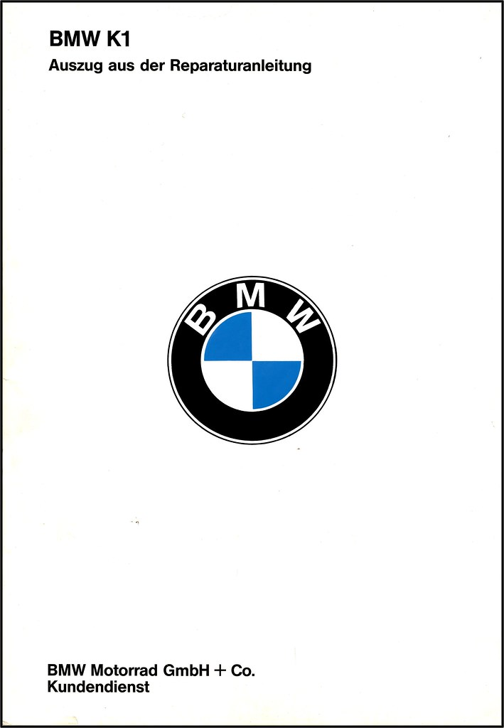 BMW K1 Repair Manual 198993 Flickr