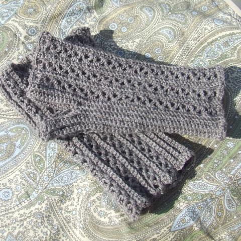Crochet Fingerless Gloves | Pattern from Happy Hooker www.ra… | Flickr