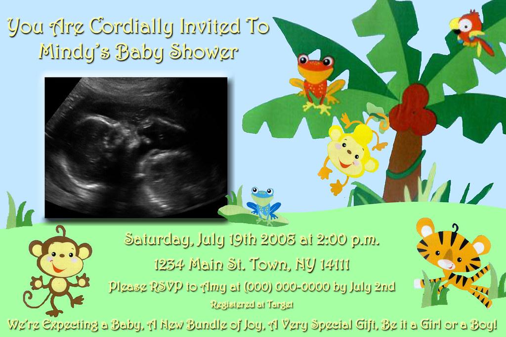Personalized Sonogram Baby Shower Invitation Fisher Price Flickr