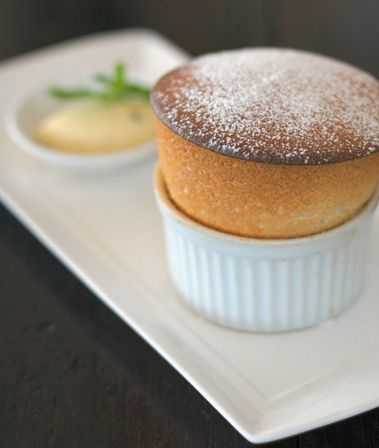 Passionfruit soufflé with passionfruit crème chantilly | by AussieBarracuda