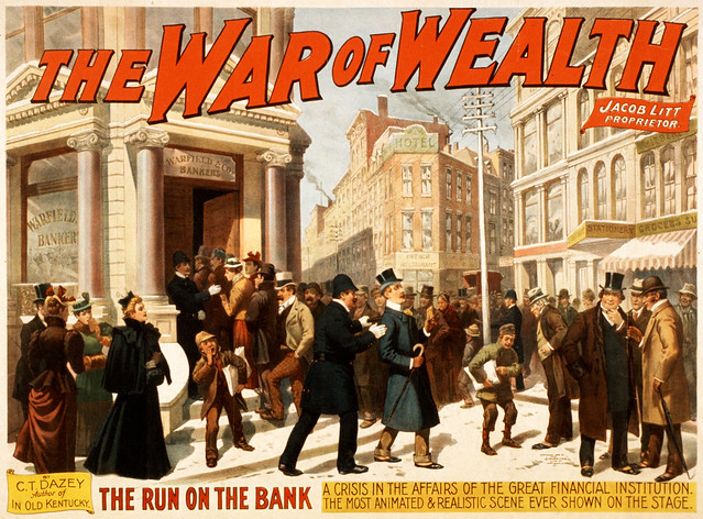 The War of Wealth by C.T. Dazey, Broadway poster, 1895