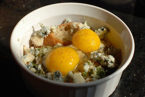 Baked Eggs Reprise: Sage, Blue Cheese, and Rosemary Sourdo ...