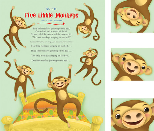 five little monkeys sitting in a tree worksheets