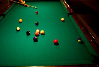 Green Felt Pool Table Room Paint Colors