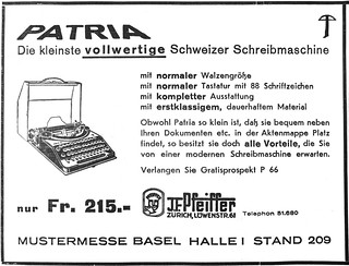 Patria portable typewriter | by shordzi