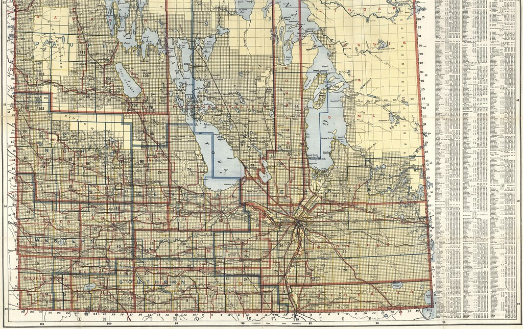 Scarboroughs Map Of Manitoba Canada South Sheet Flickr - Map of manitoba canada