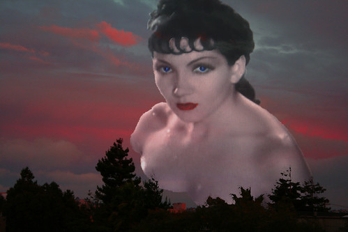 Movie Star Claudette Colbert Floats in the SF Sunset Sky Montage | by Walker Dukes