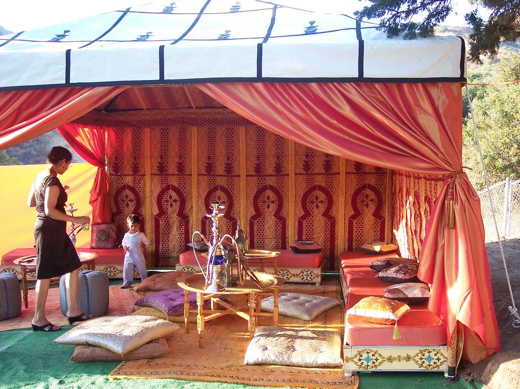... Moroccan Tent in backyard | by dj venus & Moroccan Tent in backyard | for Muslim wedding in Sun Valleyu2026 | Flickr