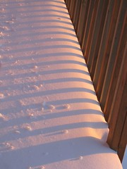 Winter sunset/snow shadows | by peggyhr