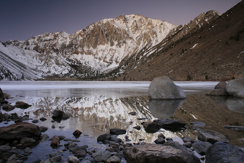 Convict Lake rock reflection | by bertdennisonphotography