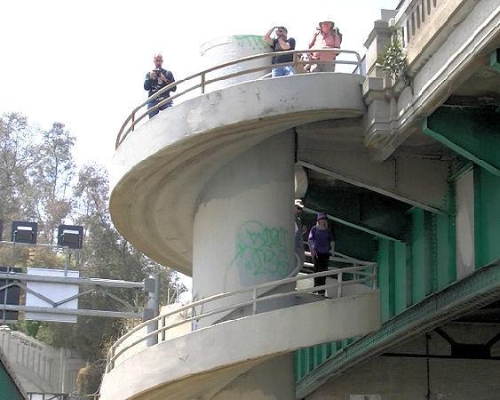 ... Saschmitz_earthlink_net 017 Spiral Staircase Los Angeles River Bridge |  By Saschmitz_earthlink_net
