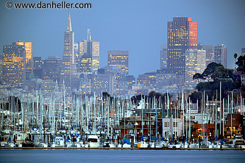 Sausalito Houseboats and San Francisco Skyline | by danheller.com