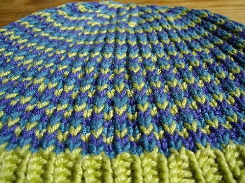 slip stitch hat close up | by knitfaced