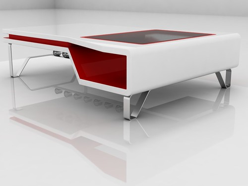 ... White And Red Coffee Table 16 | By Juan ValldeRuten.