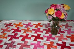 Quilt with flowers | by turning*turning
