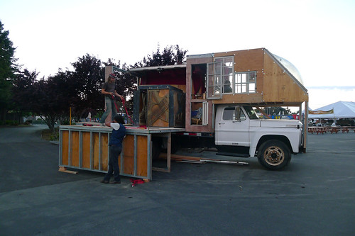 If you're going to turn a truck into mobile stage, you might as well do it right. | by Rock The Bike