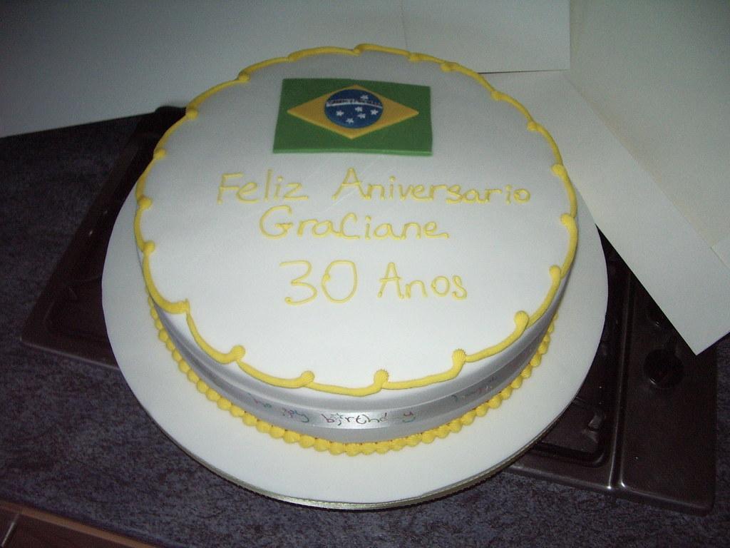 Remarkable Brazilian Flag Birthday Cake Platypus1974 Flickr Funny Birthday Cards Online Inifodamsfinfo