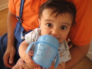 Fun with a sippy cup | by Beth Nazario