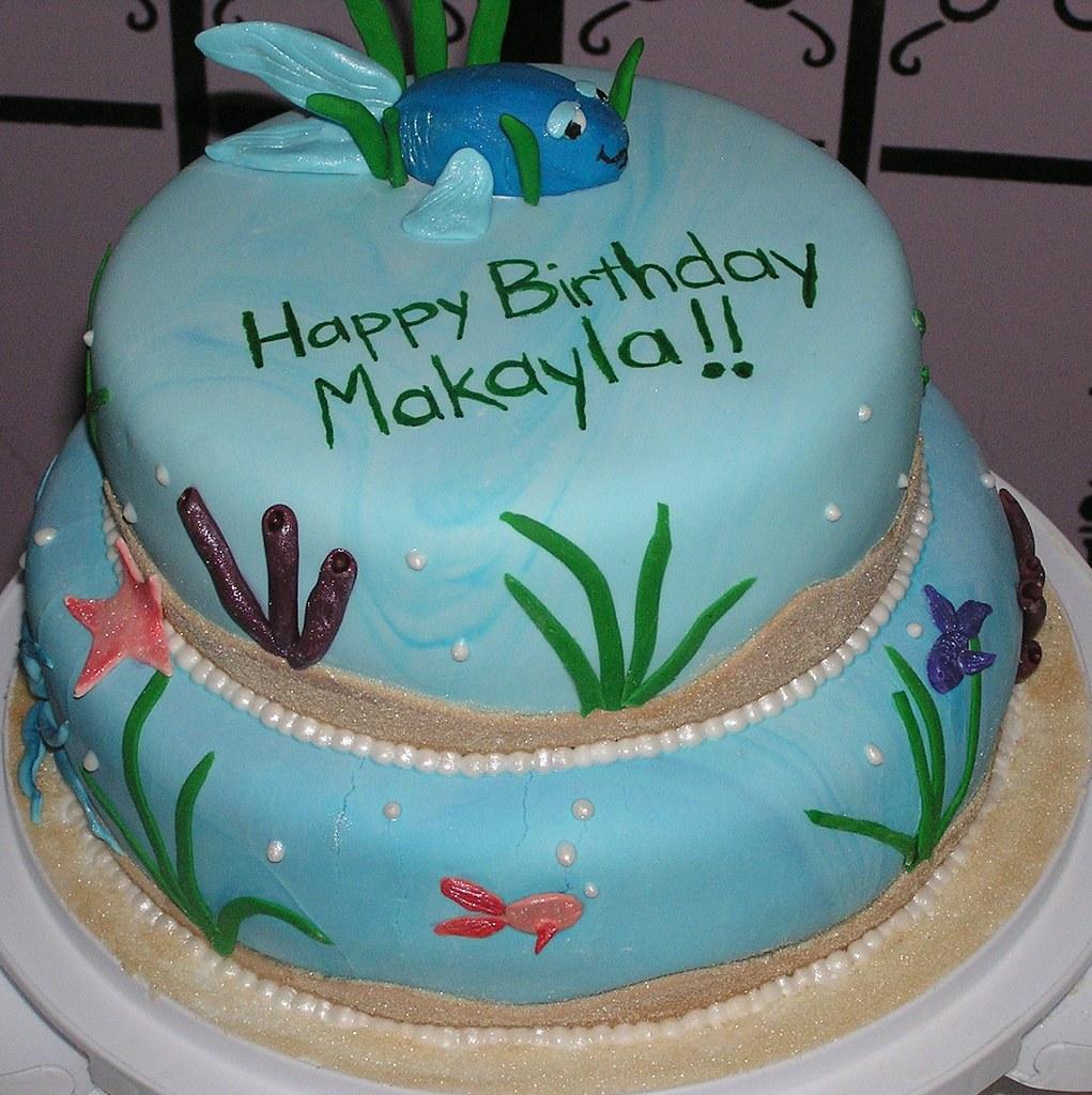 Under The Sea Birthday Cake Stephanie Flickr