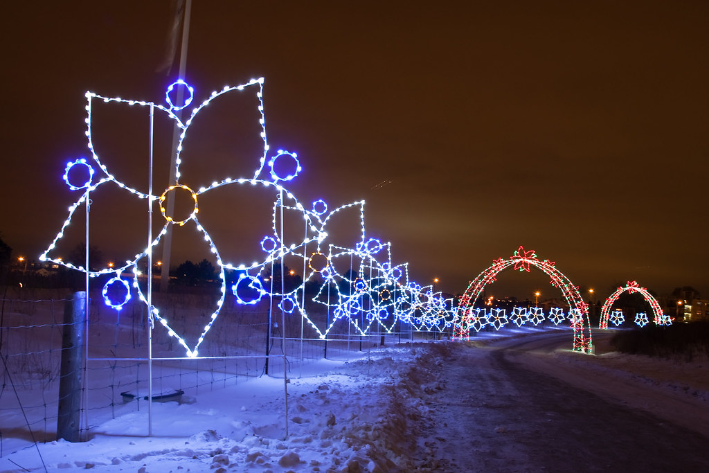 Flower Stream | A Christmas light display at Parc Downsview … | Flickr