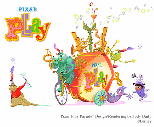 New Pixar Play Parade Designed by Jody Daily | by Miehana