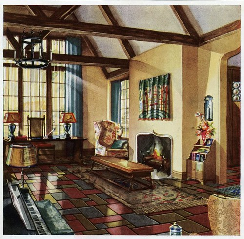 1930 living room daily bungalow flickr for 1930s bungalow interior design