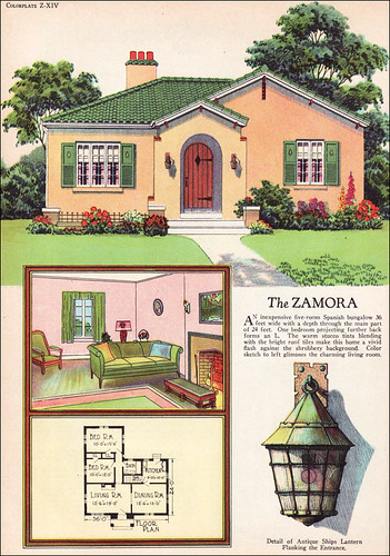 1927 american builder spanish revival small houses are for American cottage style homes