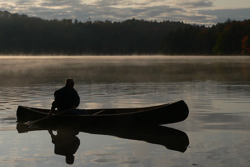 Early Morning and a Canoe on Buck Lake | by molajen