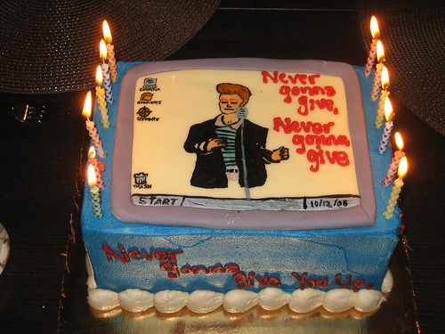 Rickrolled Birthday Cake Thanks Grant And Valerie For