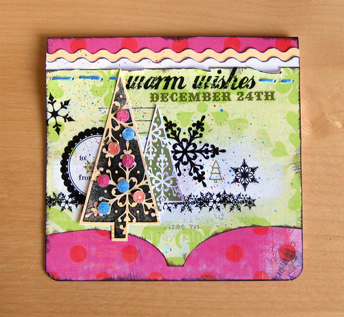 Warm Wishes - Pink Paislee Card | by Michelle Alynn
