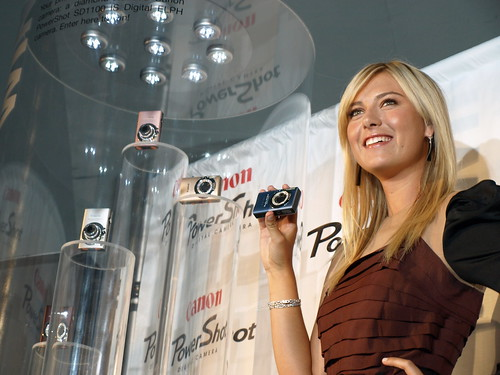 Maria Sharapova and her Canon Powershot Diamond Collection | by ChrisGampat