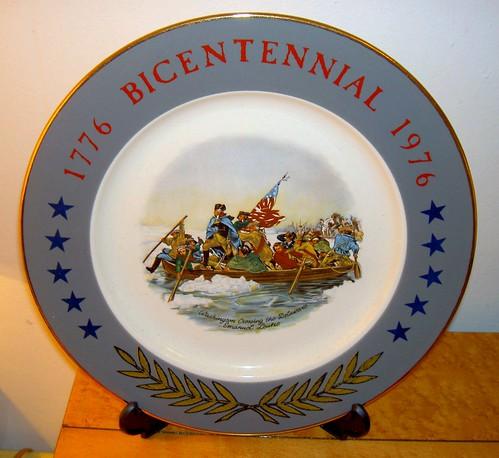 Bicentennial Plate Washington July 4th 1776 1976 Fell De