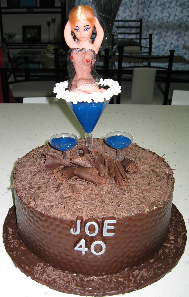 Joes 40th Birthday Naughty Cake My Work Friend Turned 40 Flickr