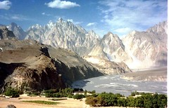 Passu -Cathedral- peaks above Hunza Valley Pakistan August1985-P7260038 | by erwinlux