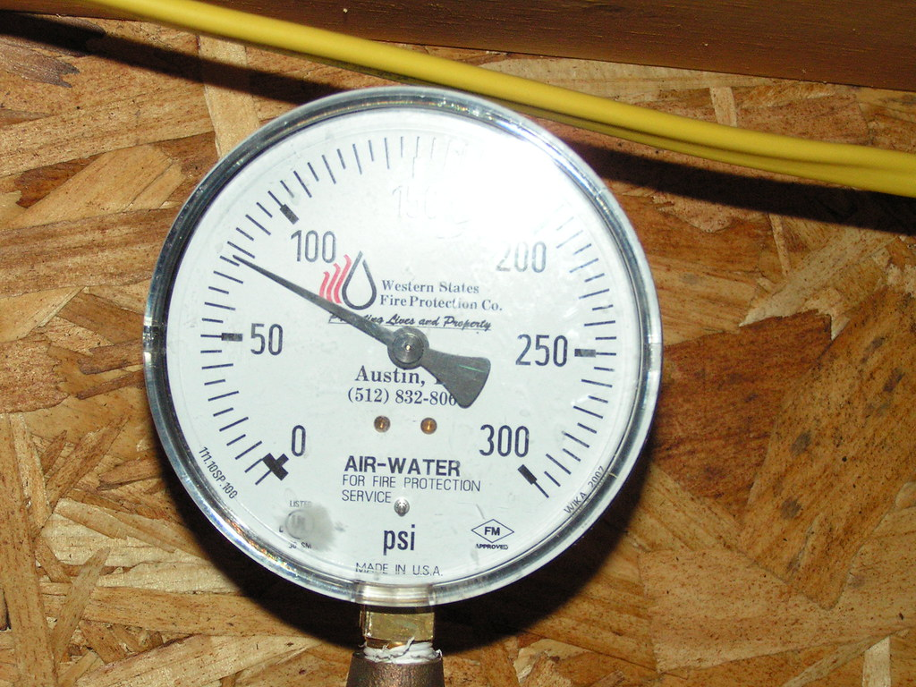 Fire Sprinkler Gauge | The name of the company installing th