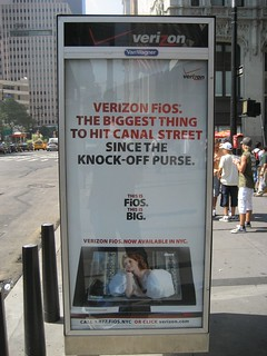 Verizon ad and Canal Steet knockoffs | by trexfiles23