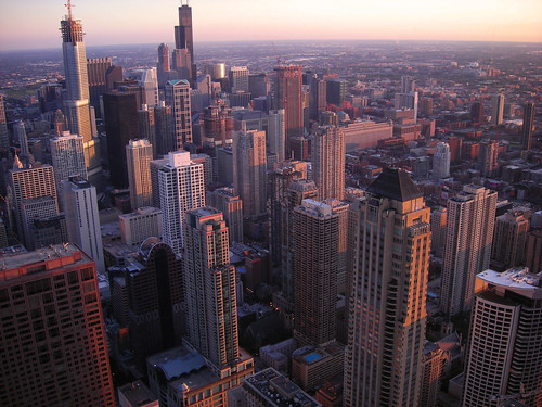 Chicago skyline at sunset | by Guillaume Boisseau