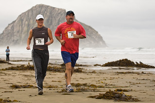 Couple, Runners at 1st Annual Rock 2 Rock 5 Mile Fun Run | by mikebaird
