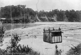 Cable tram across the Taramakau River, ca 1890s | by National Library NZ on The Commons