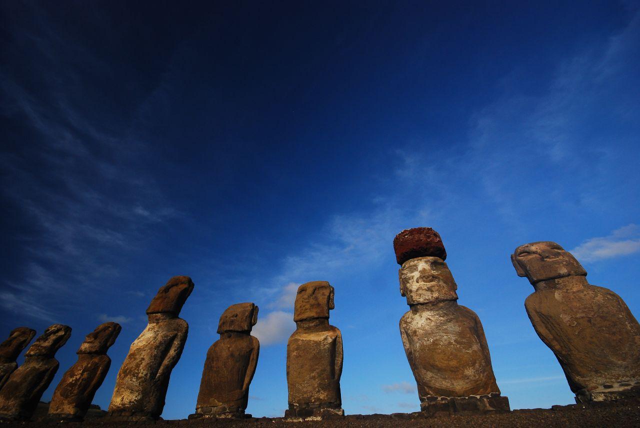 Moai at Tongariki