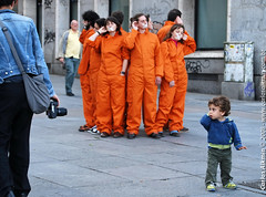 Greenpeace activists and kid - Madrid - Spain | by Carlos Alkmin