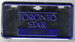 TORONTO, ONTARIO 1960'S TORONTO STAR NEWSPAPER DELIVERY BICYCLE plate | by woody1778a