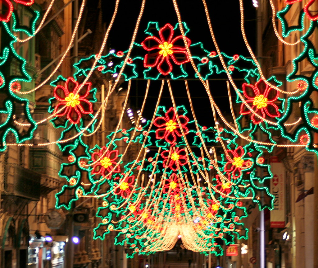 merry christmas street lights republic steet valetta by foxypar4