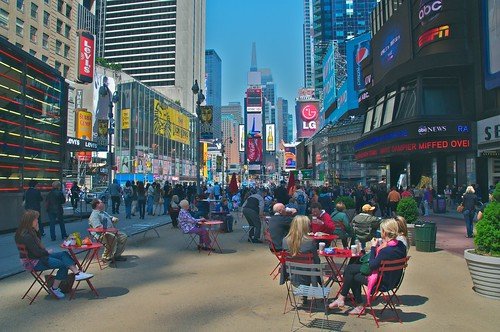A great place for lunch in NYC: Times Square, looking north from 42nd Street | by Ed Yourdon